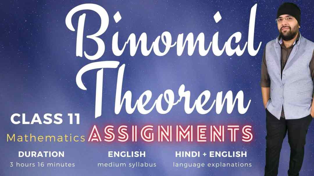Binomial Theorem Assignments Class 11 MAths 1600px