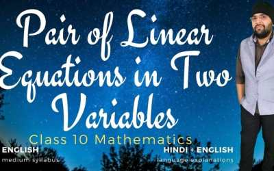 Ch03. Pair of Linear Equations in Two Variables