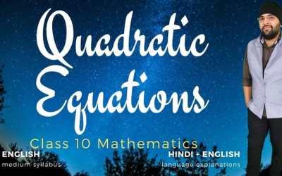 Ch04. Quadratic Equations