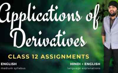 Ch06. Applications of Derivatives Class 12 Assignments