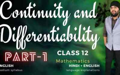 Ch05. Continuity and Differentiability Class 12 Maths
