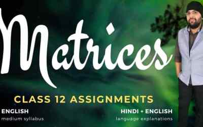 Ch03. Matrices Class 12 Assignments